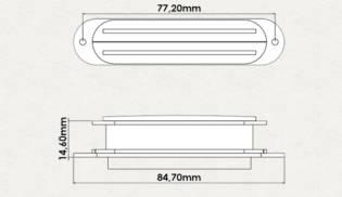 Dimensões – Dual Blade Stratocaster
